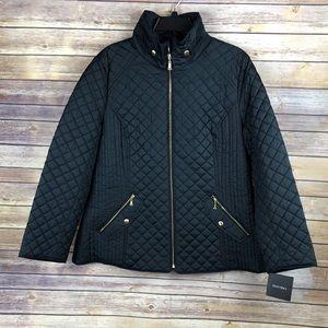 ✨ Ellen Tracy Quilted Front Zip Jacket Size 1X